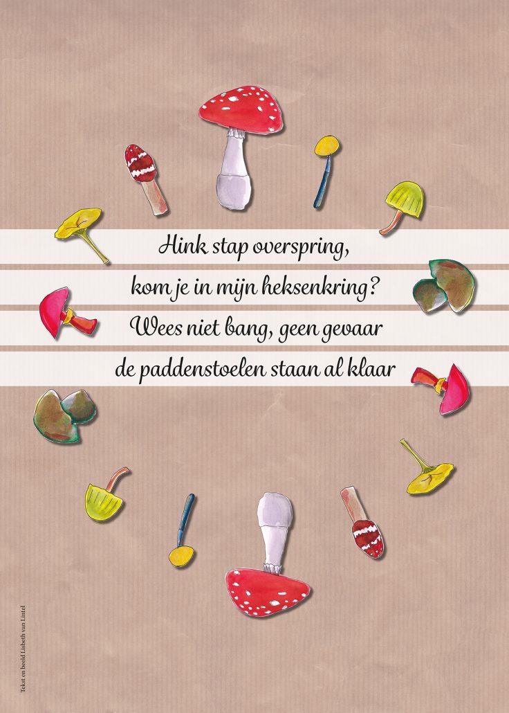 Lisbeth van Lintel IVN paddenstoel poster