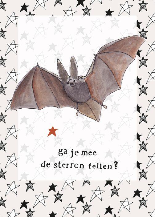 Lisbeth van Lintel kaart vleermuis